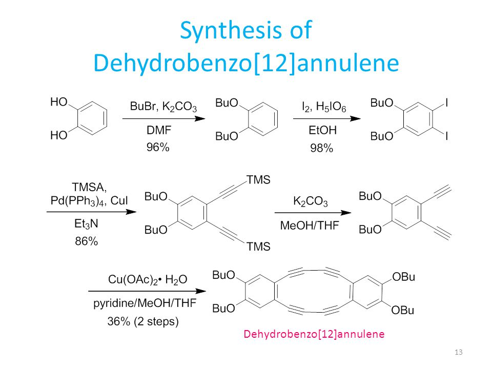 Synthesis of Dehydrobenzo[12]annulene
